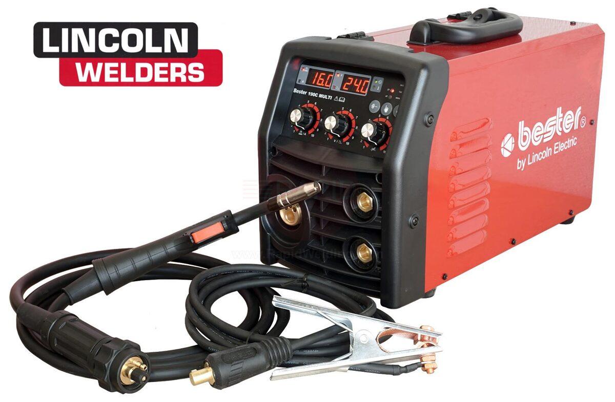 Lincoln Electric Bester 190C daudzprocesu MIG, TIG, MMA invertora metināšanas iekārta