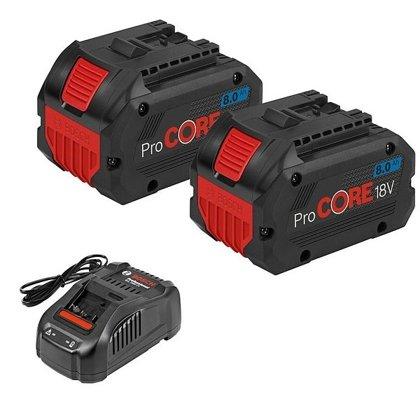 Bosch akumulatorau un lādētaja komletks GBA 18V 2x8.0Ah ProCORE18V + GAL 1880 CV