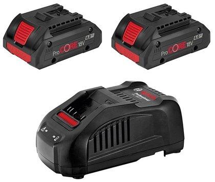 Bosch akumulatoru un lādētāja komplekts GBA 18V 2x4.0Ah ProCORE18V + GAL 1880 CV