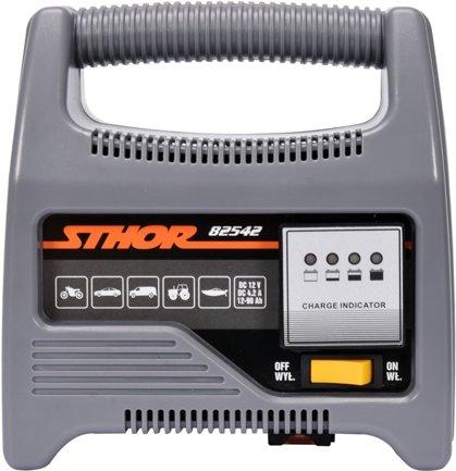Akumulātora lādētājs 12V 6A 90Ah LED (82542)