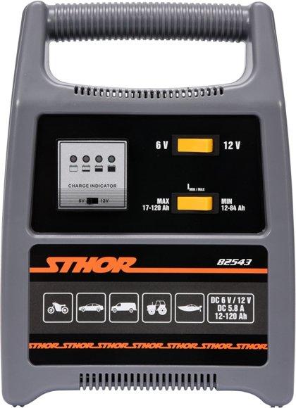 Akumulātora lādētājs 6/12V 8A 120Ah LED (82543)