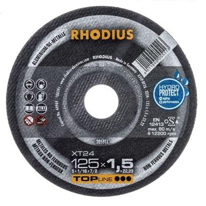 Rhodius plāns griešanas disks XT24 125x1.5x22.23