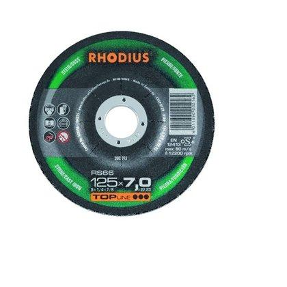Rhodius rupjās slīpēšanas disks RS66 125x7.0x22.23