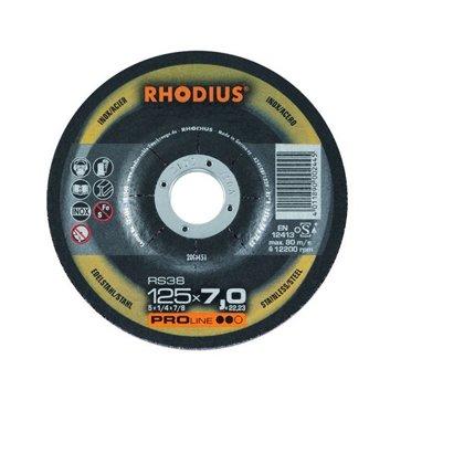 Rhodius rupjās slīpēšanas disks RS38 125x7.0x22.23
