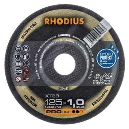 Rhodius plāns griešanas disks XT38 125x1.0x22.23
