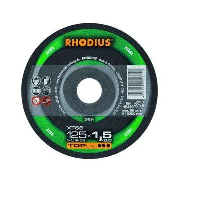 Rhodius plāns griešanas disks XT66 125x1.5x22.23