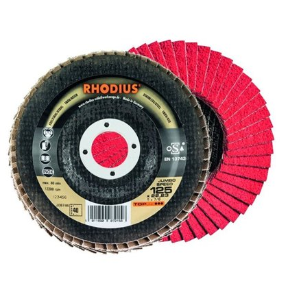Rhodius ieloču diski Jumbo Speed 125x22.23
