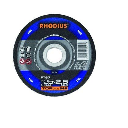 Rhodius griešanas disks FT67 125x2.5x22.23