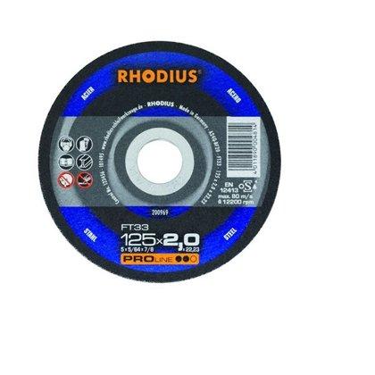 Rhodius griešanas disks FT33 125x2.0x22.23