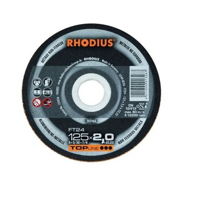 Rhodius griešanas disks FTK24 125x2.0x22.23