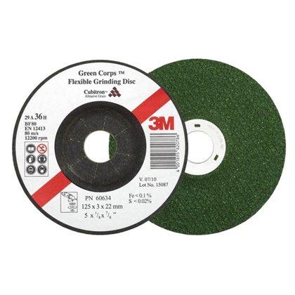 3M Slīpdisks  Green Corps P36 125x3,0x22mm