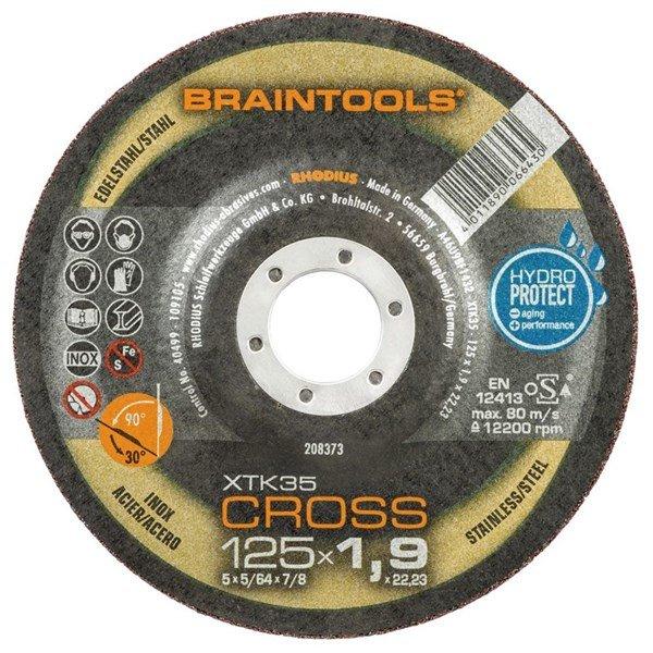 Rhodius plāns griešanas un slīpēšanas disks XTK35 Cross 125x1.9x22.23