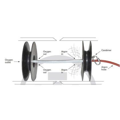 Metināšanas cauruļu saknes šuvju aizsardzības komplekts
