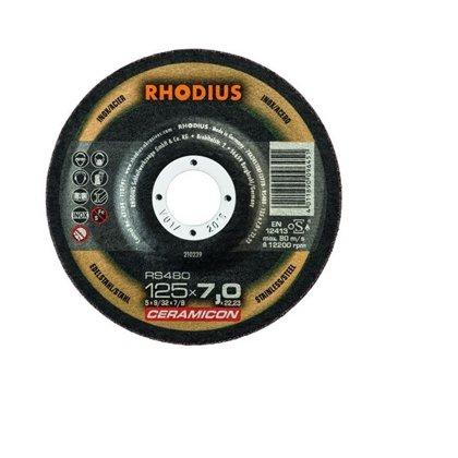 Rhodius rupjās slīpēšanas disks RS480 125x7.0x22.23