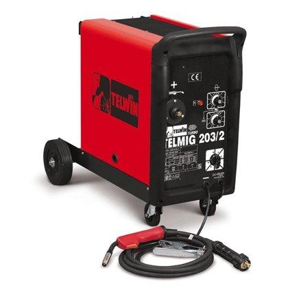 Telwin MIG/MAG metināšanas iekārta aparāts (pusautomāts) TELMIG 203/2 TURBO
