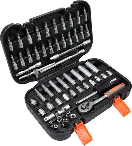 Instrumentu atslēgu komplekts 1/4, 56gab. STHOR 58643