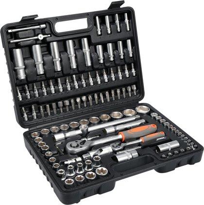 Instrumentu atslēgu komplekts 1/2, 1/4 108gab. STHOR 58685