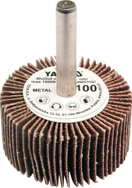 Lokšņu slīpēšanas diski YATO 40x20x6