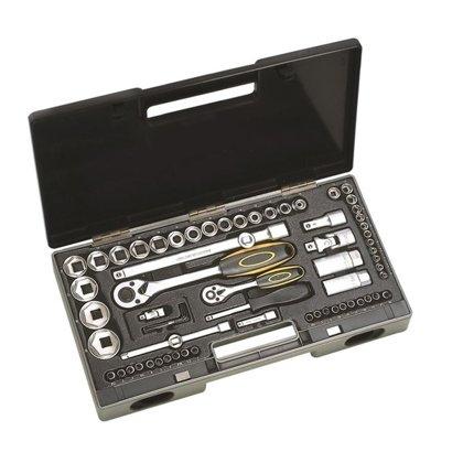 Instrumentu atslēgu muciņu 1/2'' komplekts 25 daļas
