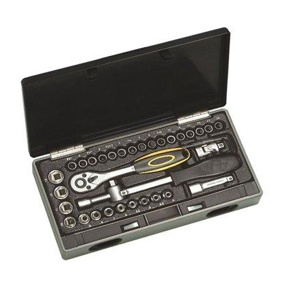 Instrumentu atslēgu muciņu 1/4'' komplekts 40 daļas
