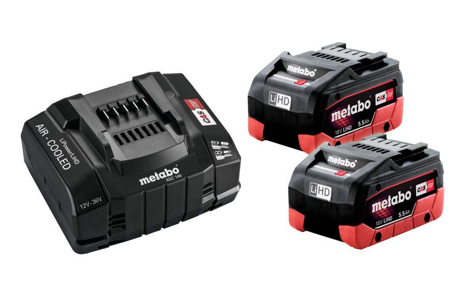 Metabo Akumulatoru komplekts: 2 x 5.5 Ah LiHD + ASC 145 lādētājs SE