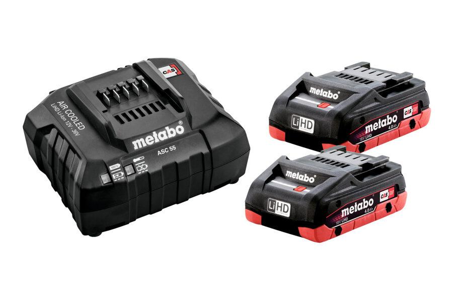 Metabo Akumulatoru komplekts: 2 x 4.0 Ah LiHD + lādētājs ASC 55 SE