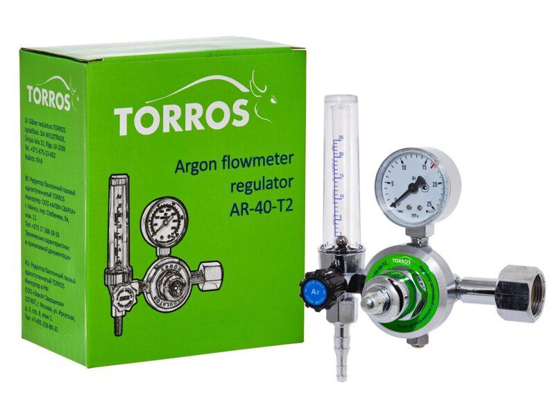 Argona reduktors TORROS AR-40-T2 (ar rotamēru)