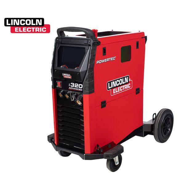 Lincoln Electric Powertec i320C Advanced LCD MIG/MAG metināšanas iekārta aparāts (pusautomāts)