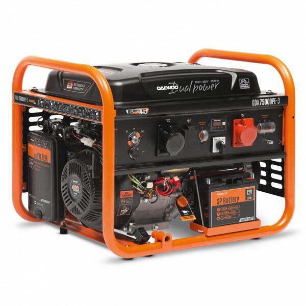Ģenerators DAEWOO GDA 7500DPE-3