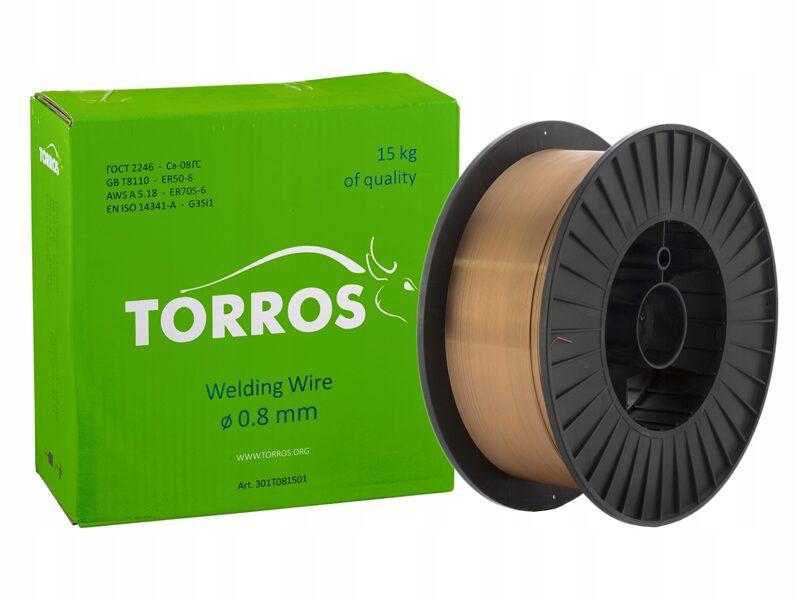 TORROS metināšanas stieple 0.8mm SG2, 15 kg