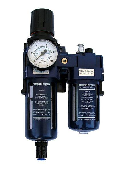 """Gaisa filtrs/ regulators/ eļļotājs pneimatikai 1/2"""" (AD4005FRN)"""