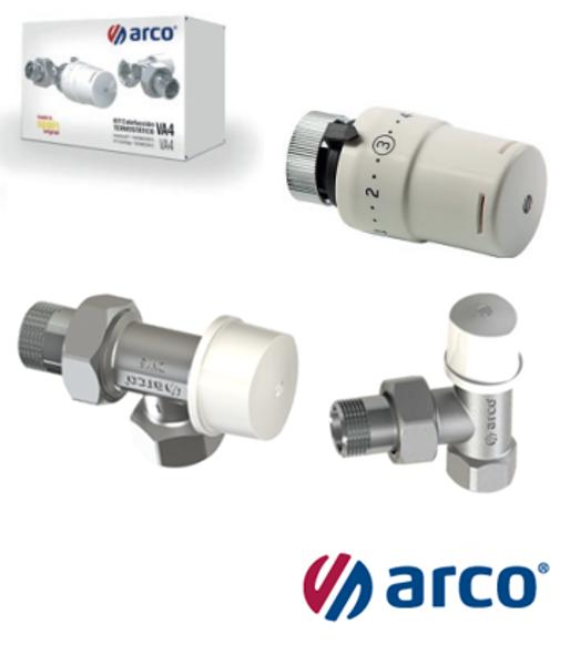 Termostatisko ventīļu komplekts radiatoram, aksiāls, TIBET ARCO