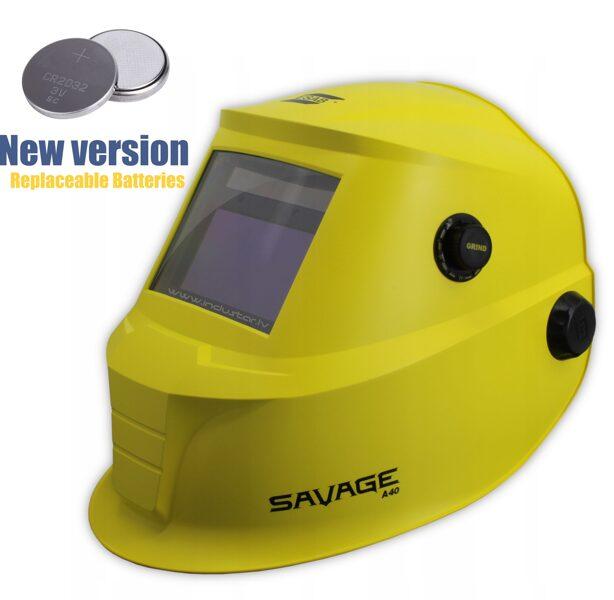 ESAB SAVAGE A40 (yellow) Metināšanas maska hameleons