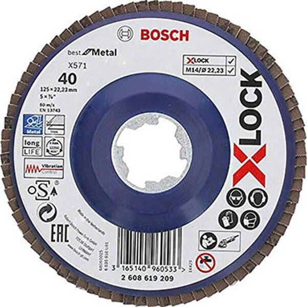 Bosch X-Lock Ieloču diski 125mm. (x571)