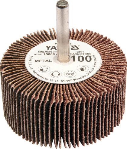 Lokšņu slīpēšanas diski YATO 60x30x6