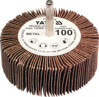 Lokšņu slīpēšanas diski YATO 80x30x6