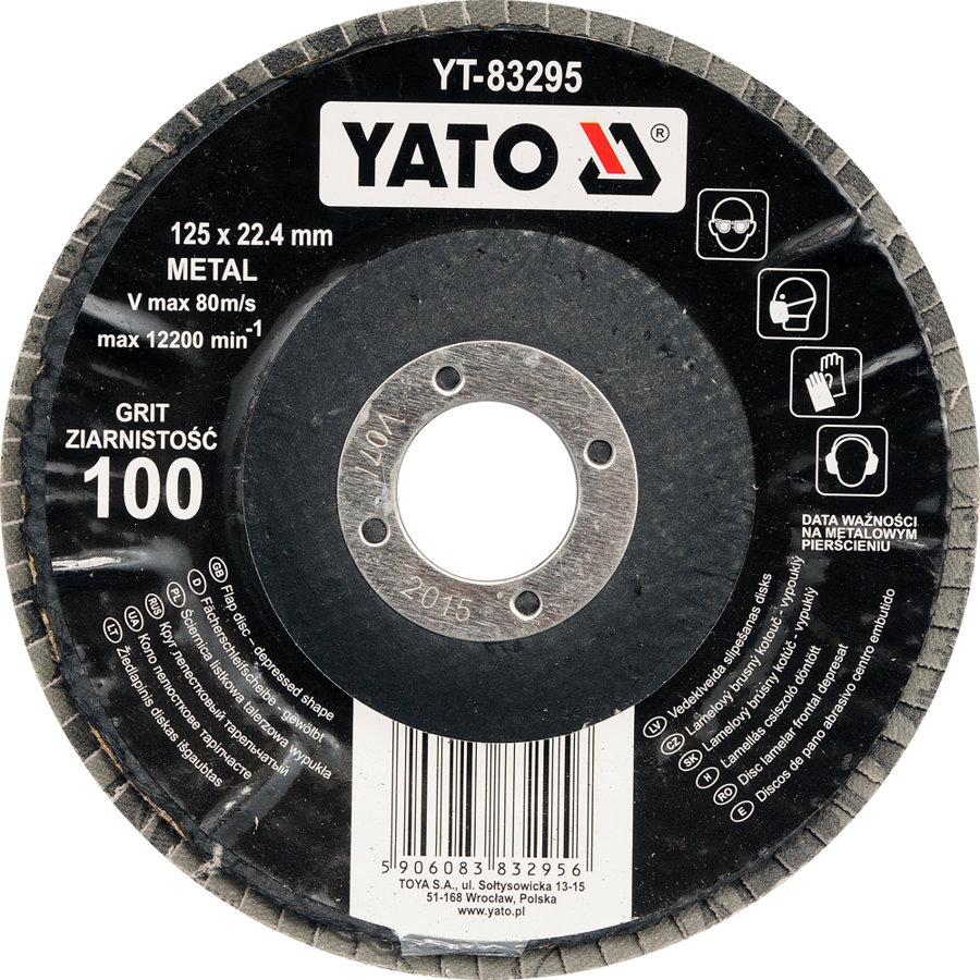 YATO ieloču diski 125mm P36-P120