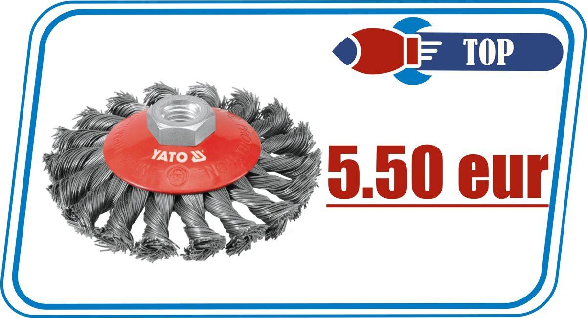 Щетка дисковая YATO 100mm